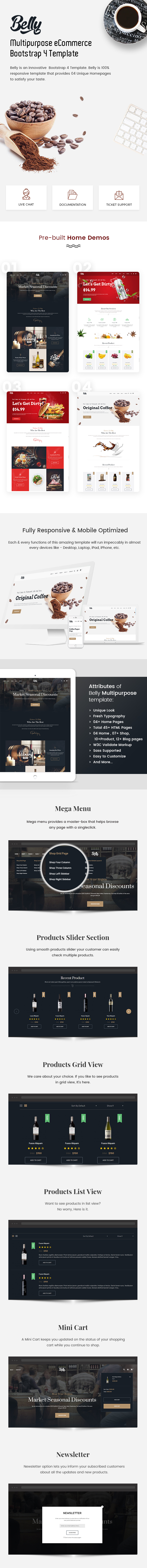 Multipurpose eCommerce Bootstrap 4 Template