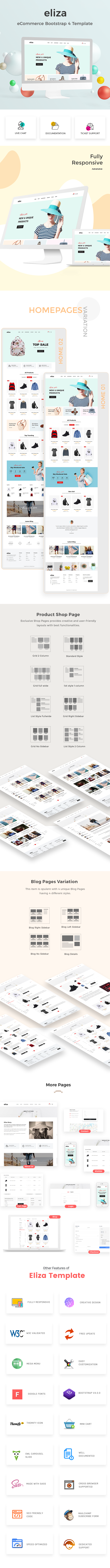 eliza - eCommerce Bootstrap 4 Template