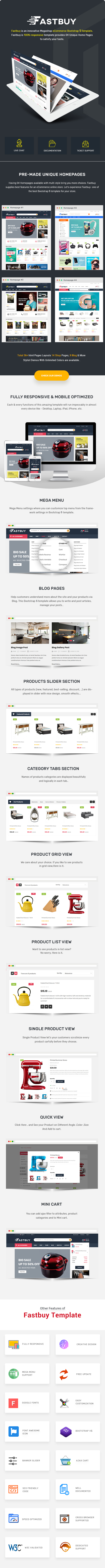 Megashop eCommerce Bootstrap 4 Template