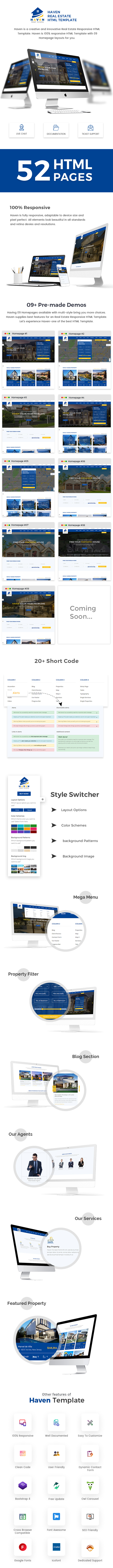 Haven - Real Estate Responsive HTML Template - 1