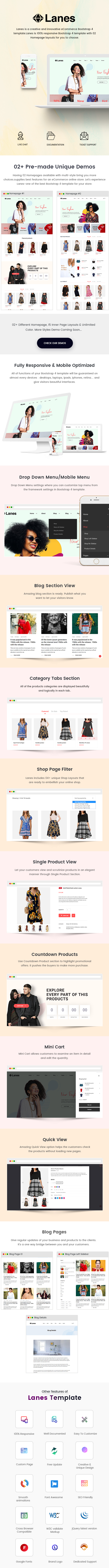 Lanes - Fashion Store HTML Template - 1