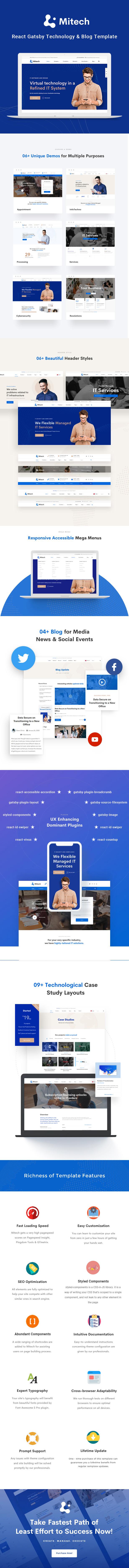 Mitech - React Gatsby Technology & Blog Template - 1
