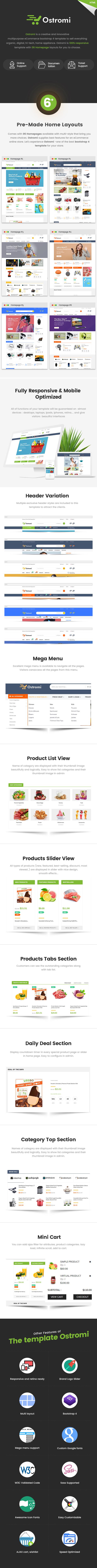 Ostromi – Organic Electronics Shop HTML Template, Gobase64