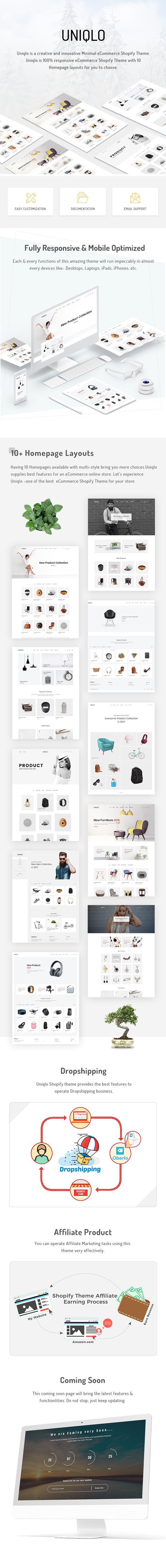 Uniqlo - Minimal eCommerce Shopify Theme - 1