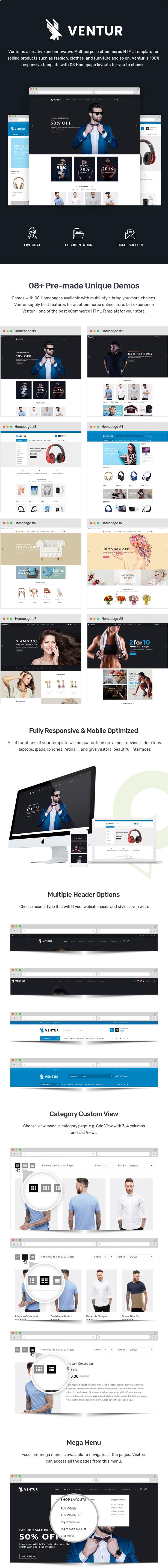 Ventur – Multipurpose eCommerce HTML Template - 1