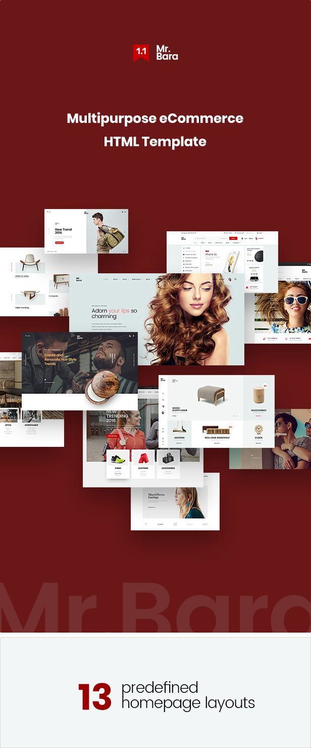 Mr.Bara - Multipurpose eCommerce HTML Template - 2
