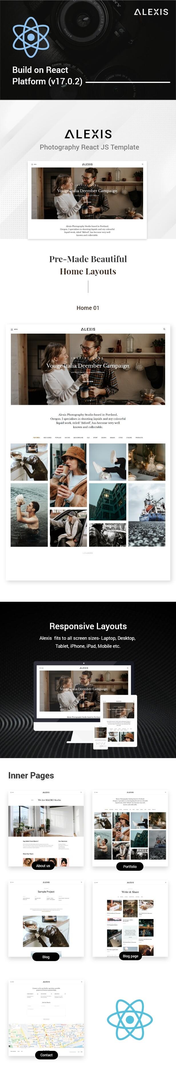 Alexis – Photography React JS Template - 1