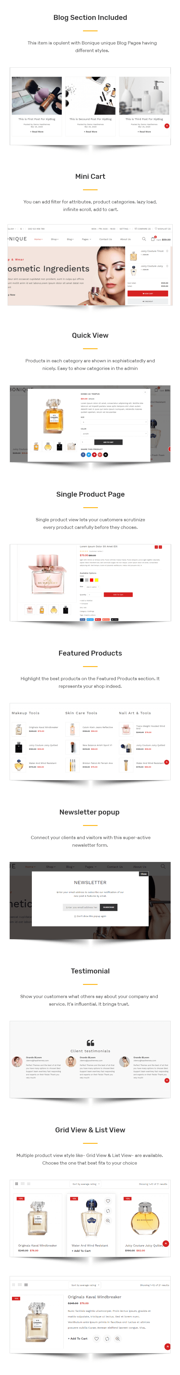 Bonique - Beauty & Cosmetic eCommerce HTML Template