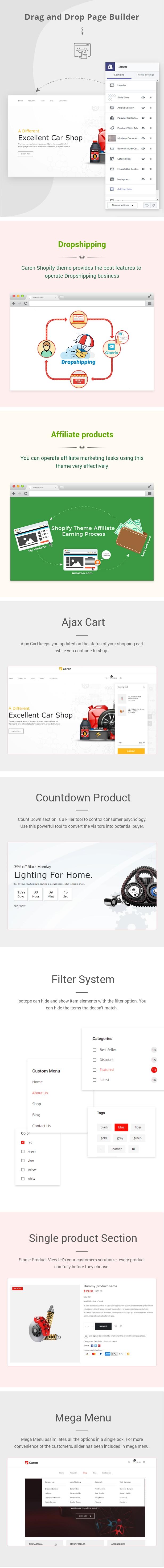 Caren - Auto Parts, Car Accessories Shopify Theme - 2