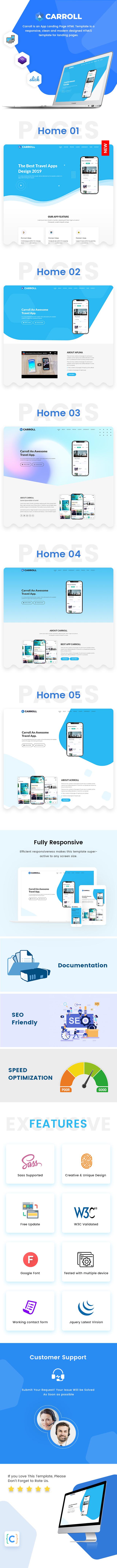 App Landing Page Template