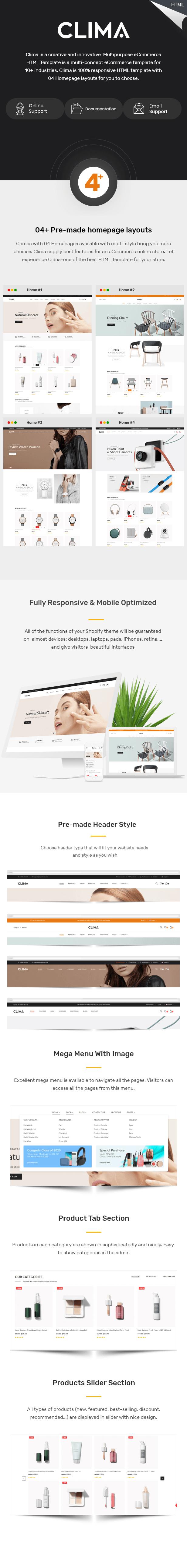 Clima - Multipurpose eCommerce HTML Template