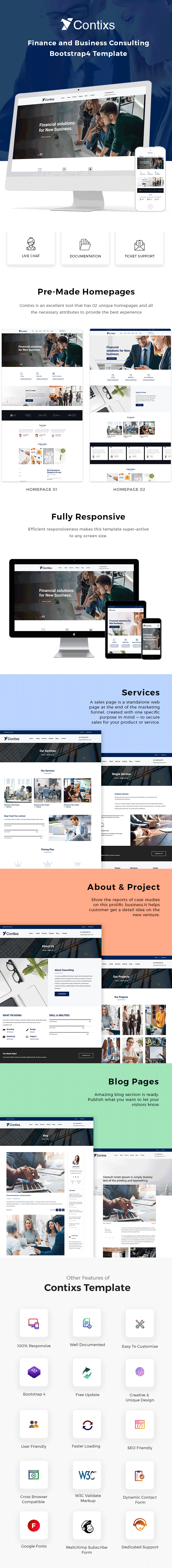 Contixs - Business Consulting HTML Template - 1