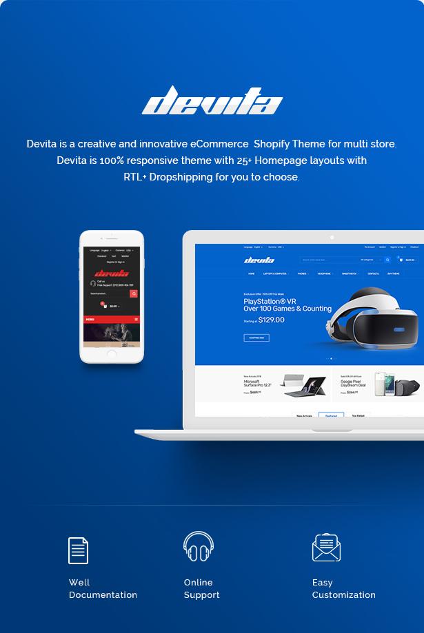 Devita - eCommerce Shopify Theme - 2