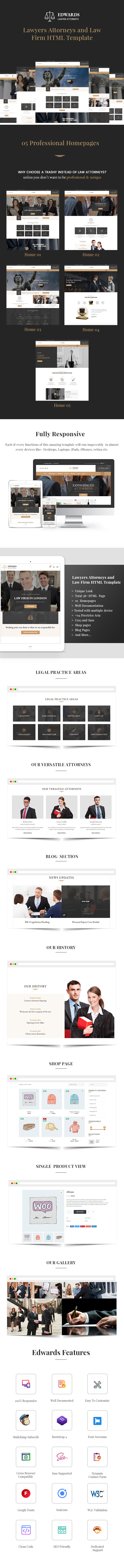 Edwards - Law Firm HTML Template - 1