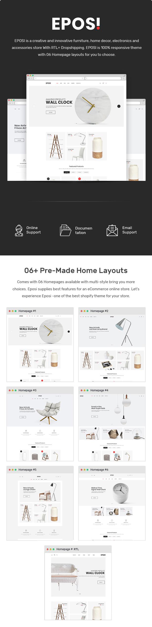 Eposi - Furniture Store Shopify Theme - 1