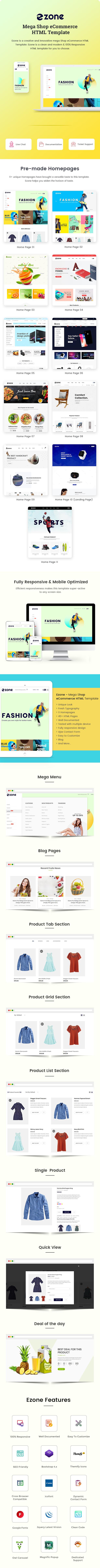 Mega Shop eCommerce HTML Template