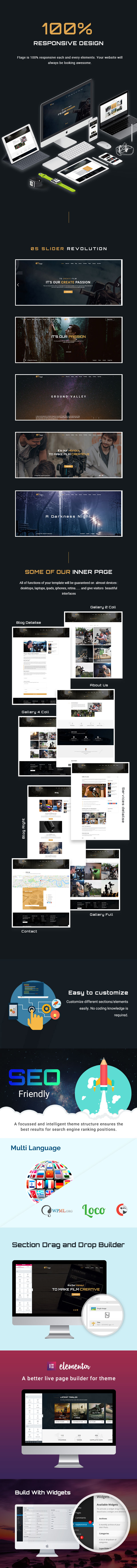 Movie Production & Film Studio WordPress Theme - Ftage - 2