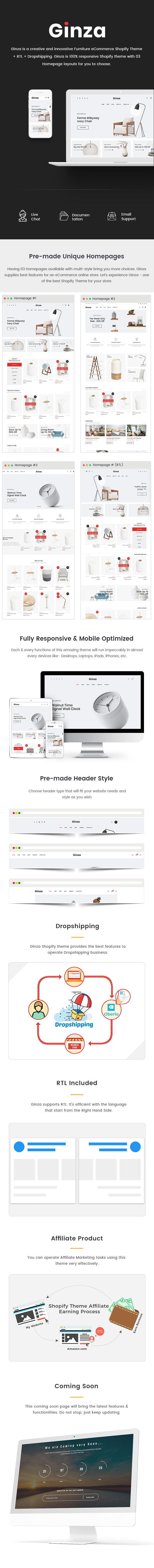Ginza - Furniture Shopify Theme - 1