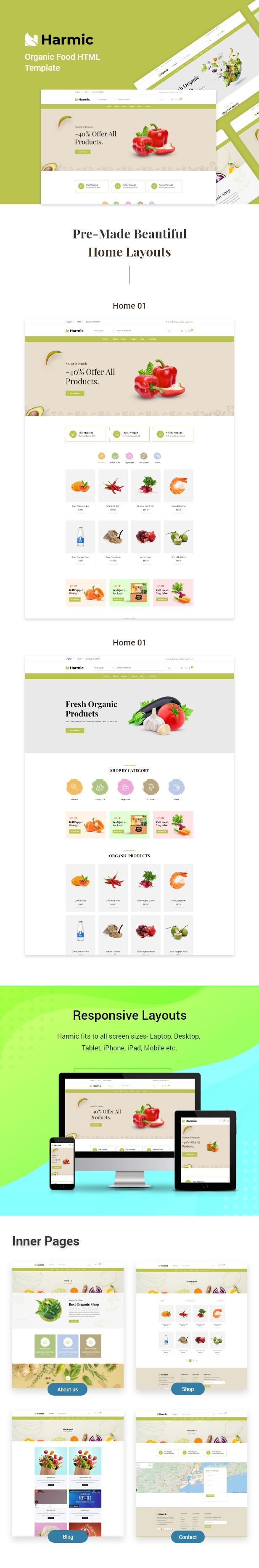 Harmic - Organic Food HTML Template - 1