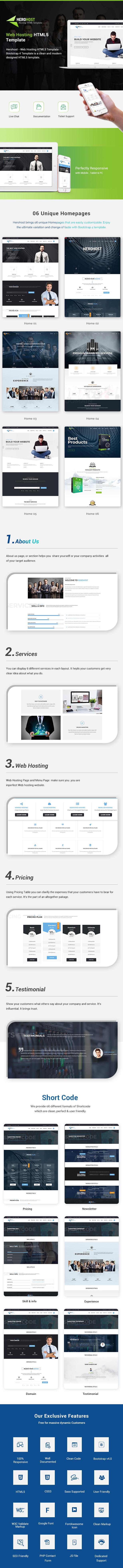 HeroHost - Web Hosting HTML Template - 1