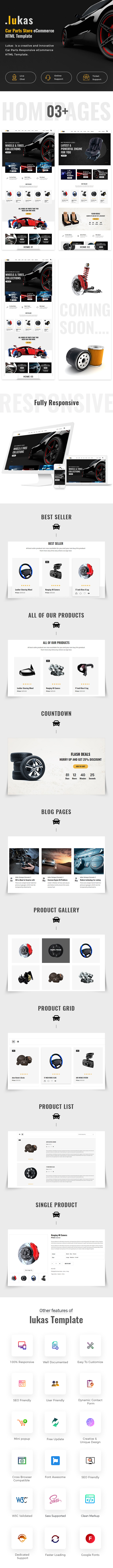 Car Parts Store eCommerce HTML Template