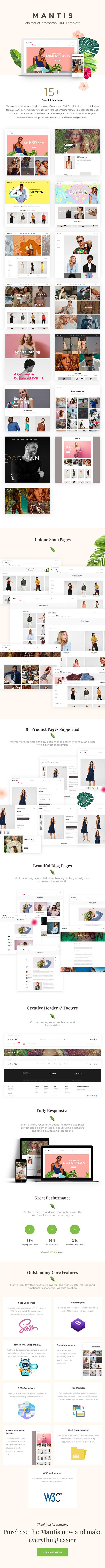 Mantis – Minimal eCommerce HTML Template - 1