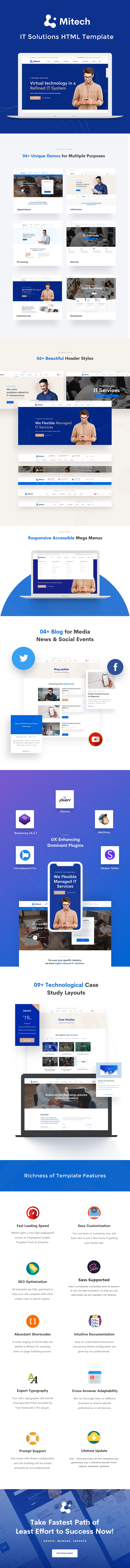 Mitech -  IT Solutions And Services Company HTML Template - 1