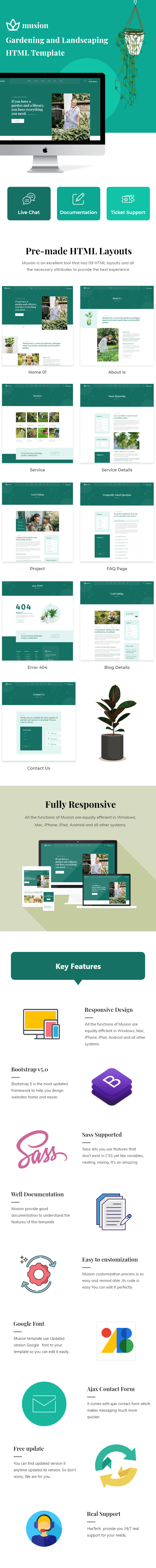 Musion – Gardening and Landscaping HTML Template - 1