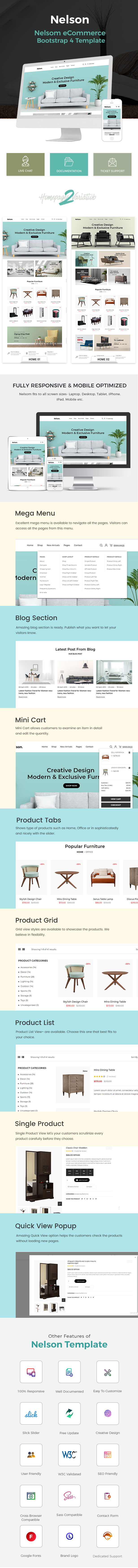 Nelson - Furniture eCommerce Bootstrap 4 Template - 1