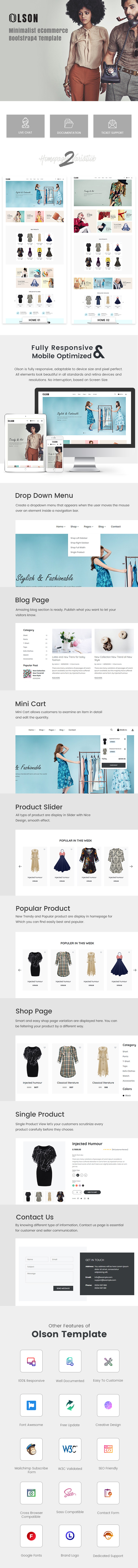 Olson – eCommerce Bootstrap 4 Template