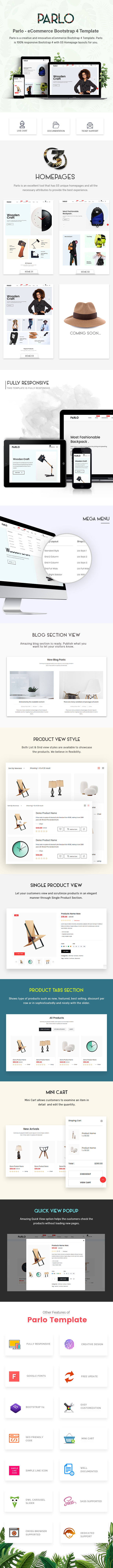 Parlo – eCommerce Bootstrap 4 Template - 1