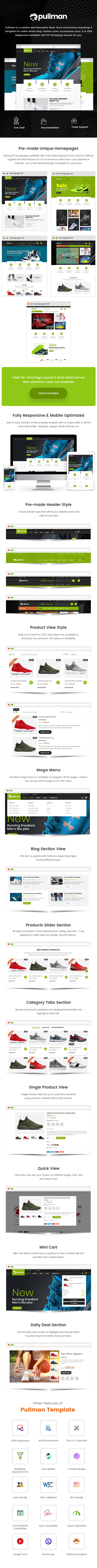 Pullman - Shoes Store HTML Template - 1