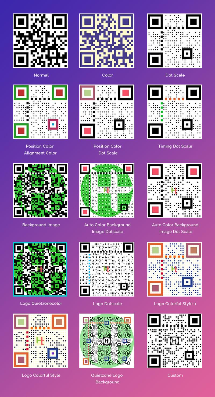 QR Code generator Samples