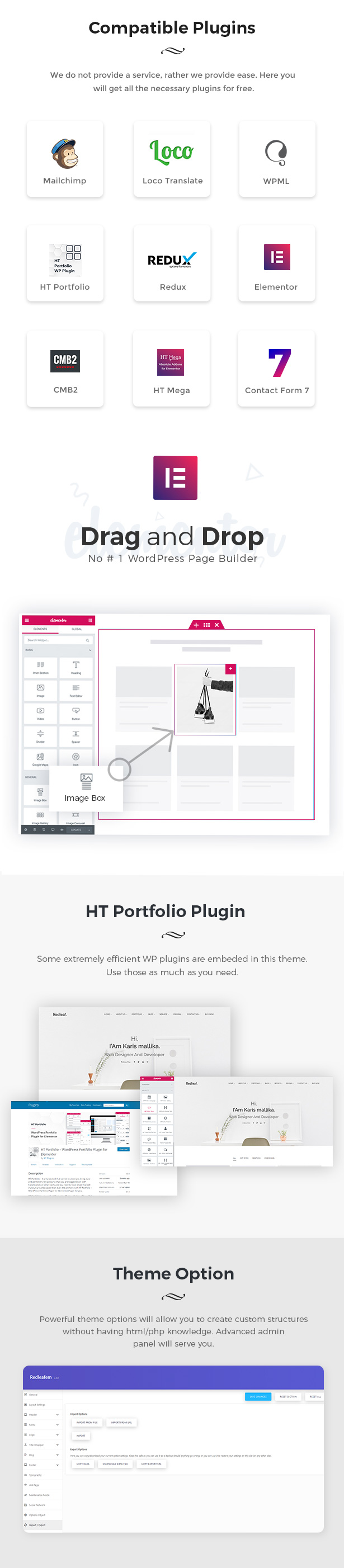 Redleaf - Minimal Portfolio WordPress Theme - 3