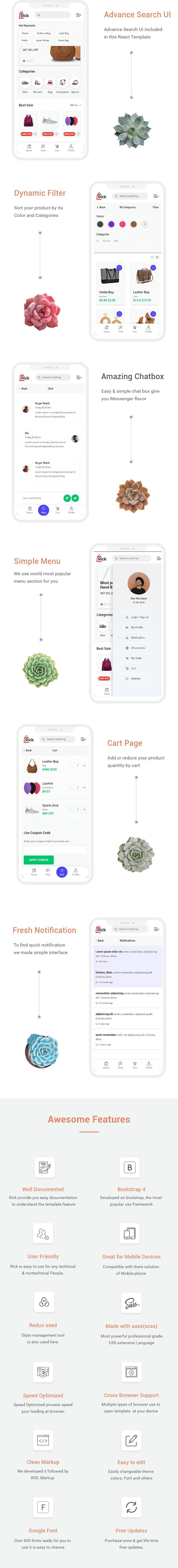 Rick – React JS Mobile eCommerce Template