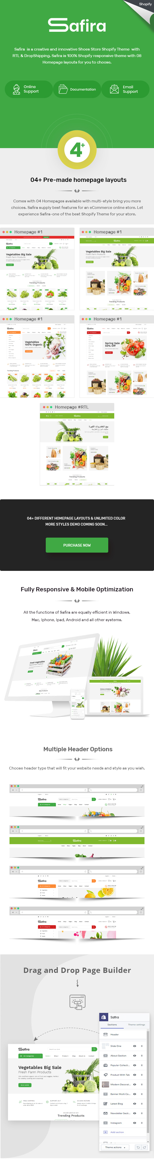 Safira – Organic Food Shopify Theme