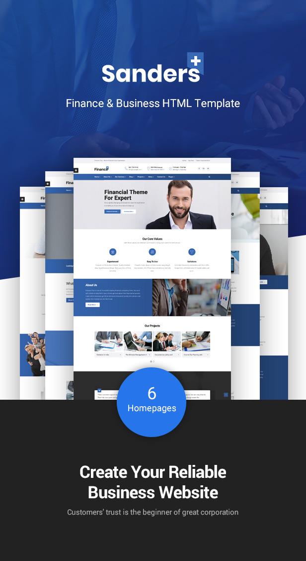 Finance Business HTML Template - Sanders - 1