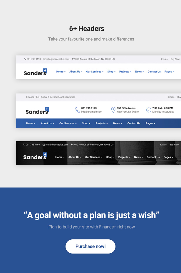 Finance Business HTML Template - Sanders - 4