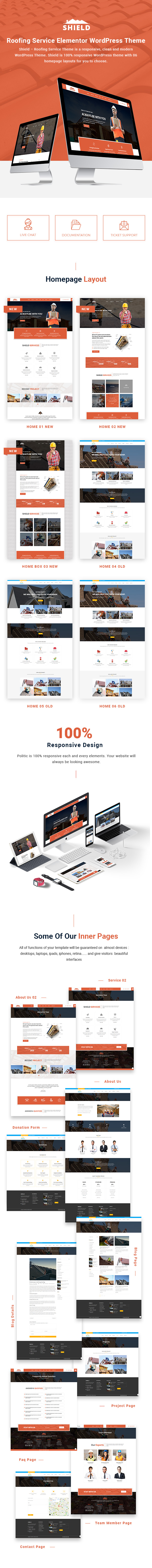 Shield - Roofing Service Elementor WordPress Theme - 1
