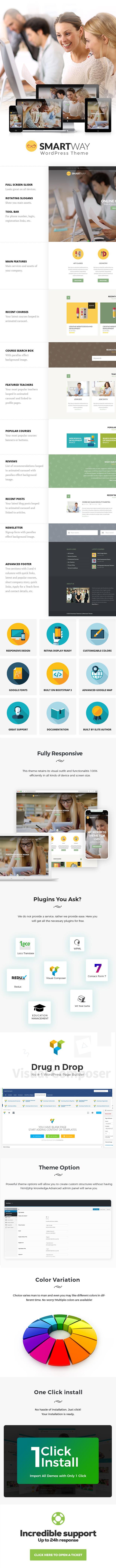 Smartway - Learning & Courses WordPress Theme - 1