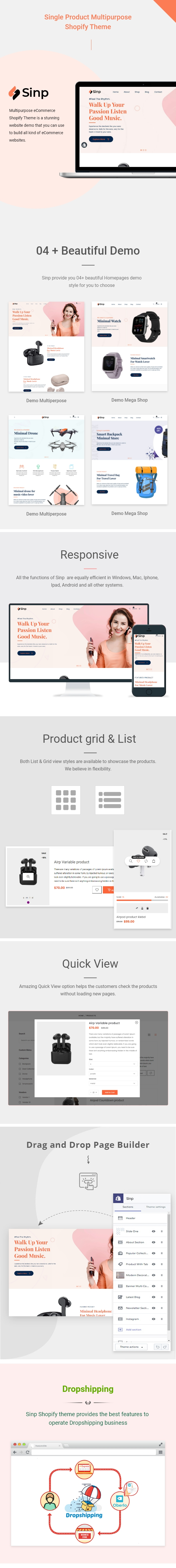 Sinp - Single Product Multipurpose Shopify Theme - 1