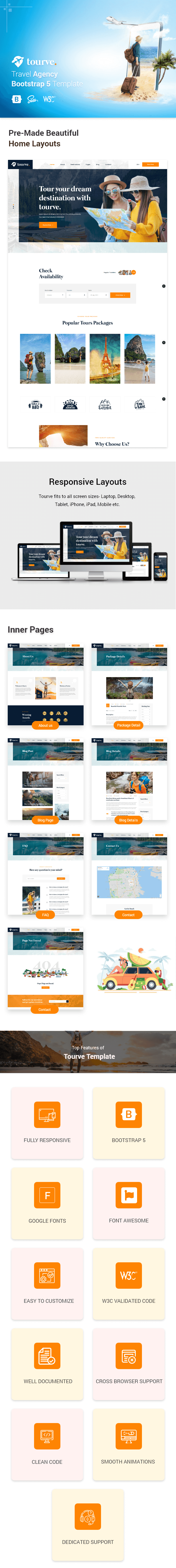 Tourve - Travel Agency Bootstrap 5 Template - 1