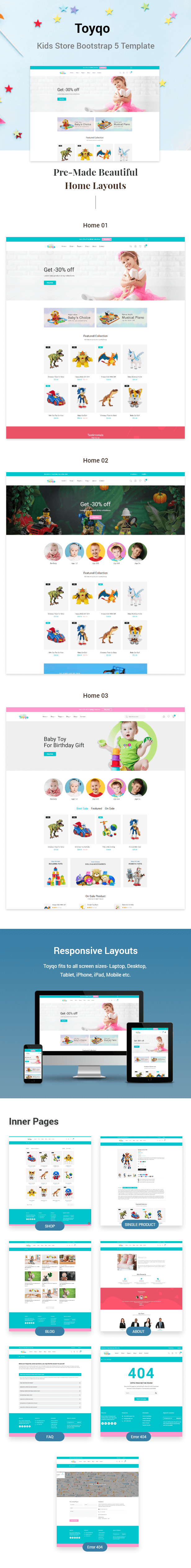 Toyqo - Kids Store Bootstrap 5 Template - 1