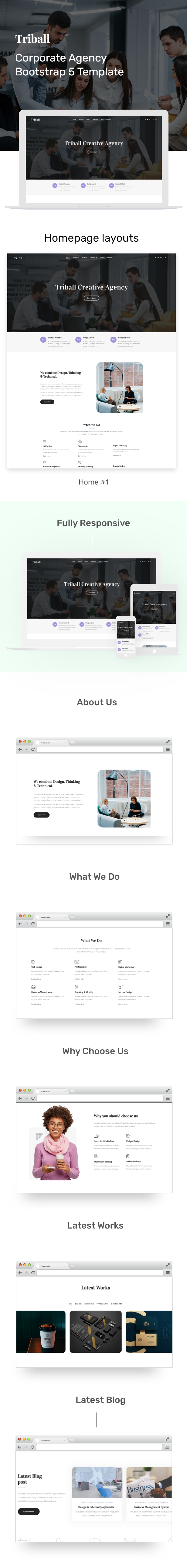 Triball - Corporate Agency Bootstrap 5 Template - 1