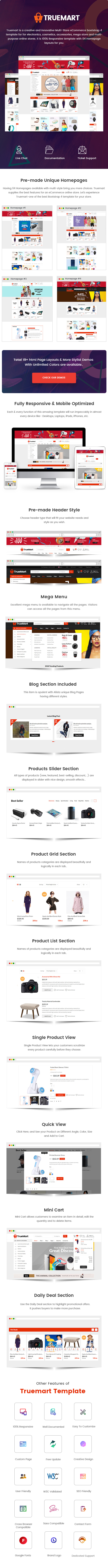 Truemart - Fashion Electronics Store HTML Template - 1