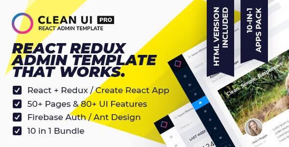 Clean UI React Pro Multi-Concept Admin Template