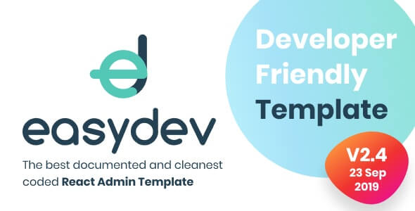 EasyDev Developer Friendly React Redux BS4 Admin Template + Seed Project