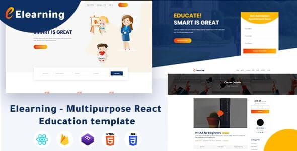 Elearning Multipurpose React Education Template