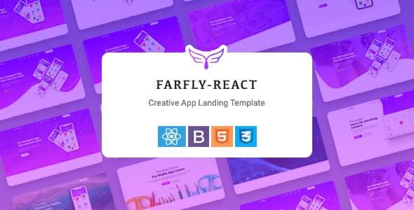 Farfly Creative App Landing React Template