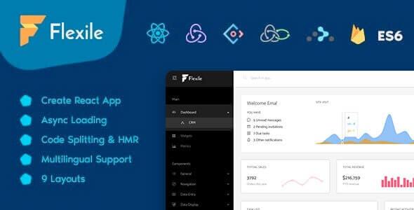 Flexile React Redux Admin Template based on Ant Framework